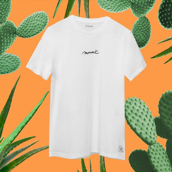 moment broderie t-shirt blanc cactus